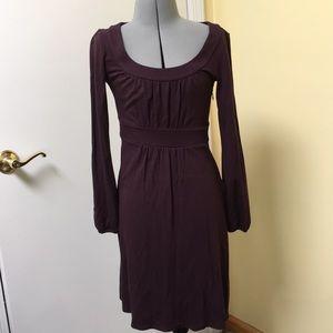 Long sleeve plum dress